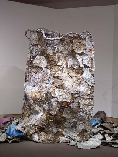 El anatsui gawu artworks for Waste material art on paper