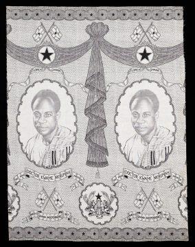 Factory-printed cloth (Prime Minister Kwame Nkrumah)