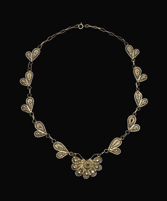 Stylized butterfly necklace (papillon)