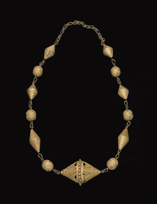 Bicone pendant necklace (korval)