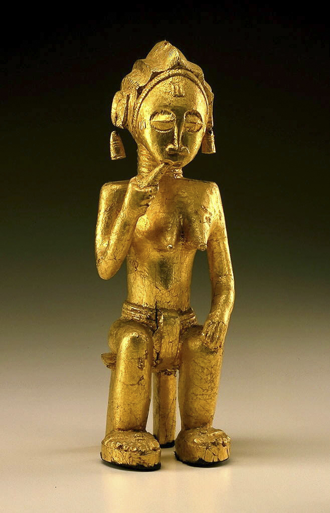 8feeb9c213abd6 Yamoussoukro or Lacs District, Côte d'Ivoire Female figure (sika blawa) Mid- 20th century. Wood, gold leaf. Gift of Philip L. Ravenhill and Judith  Timyan, ...