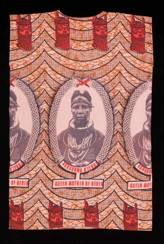 Commemorative cloth of iyoba, Queen Mother of Benin