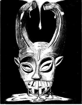 Jakayla Smallwood Norhtern Ibo hunting mask