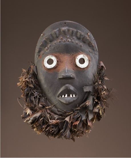 "Bagle mask, called Slu (""Hawk""), c. 1965 Tompieme (active 1960–80) Dan artist, Liberia (Nyor Diaple town) Wood, metal, feathers National Museum of African Art, Bequest of William Siegmann in memory of Philip Ravenhill 2012-11-2"