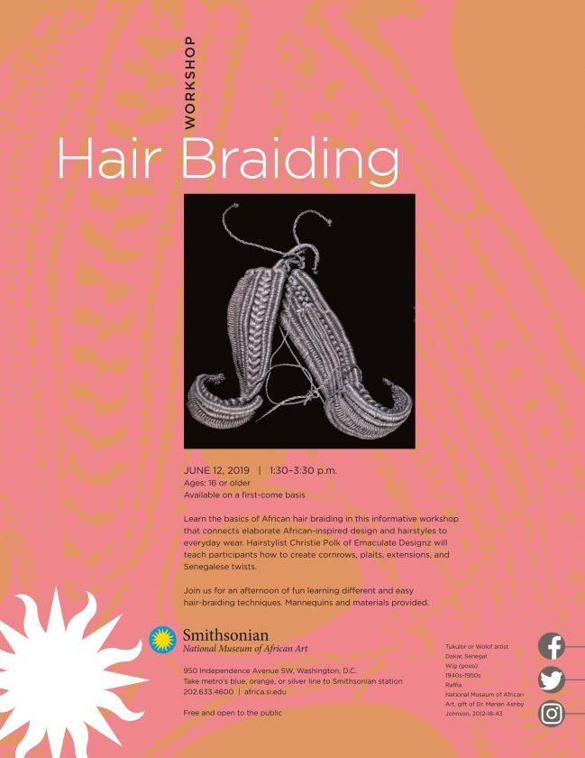 Hair braiding workshop