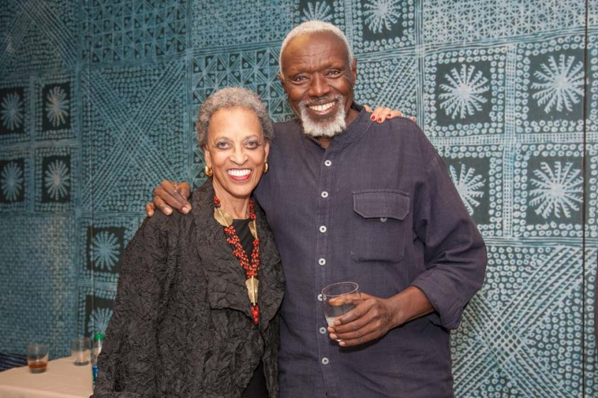 Ousmane Sow and Johnnetta B. Cole