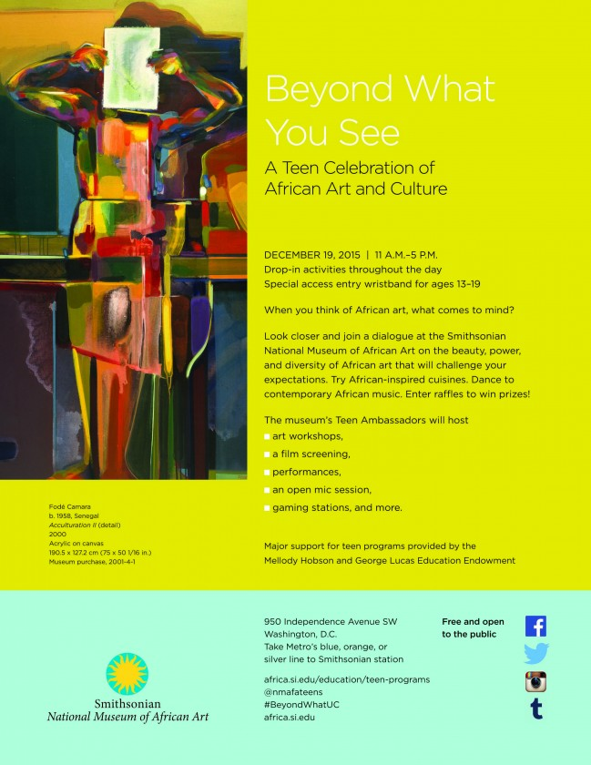 Beyond What You See A Teen Celebration of African Art and Culture